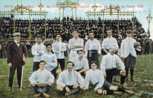 1908 MONTEVIDEO (URUGUAY) Team Club Nacional Football ganador Copa de Honor 1905