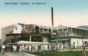 1910 ca PUERTO CABELLO (VENEZUELA) La Congelación - Tarjeta postal vintage