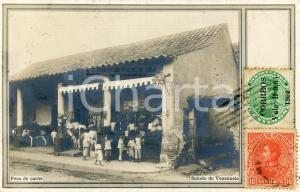 1904 COSTUMI VENEZUELA Pesa de carne - Cartolina vintage ANIMATA FP VG