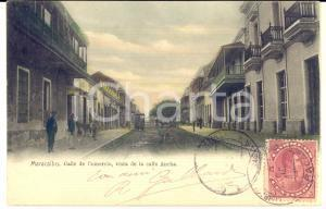 1905 ca MARACAIBO (VENEZUELA) Calle de Comercio - Cartolina ANIMATA omnibus