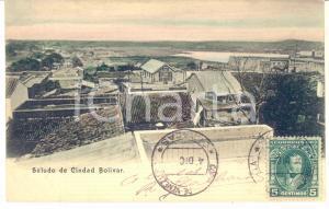 1910 ca CIUDAD BOLIVAR (VENEZUELA) Panorama dall'alto - Cartolina vintage FP VG