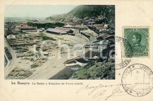 1910 ca LA GUAIRA (VENEZUELA) La Bahia y Estacion de Ferro-Carril - Cartolina FP