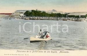 1910 ca MARACAIBO VENEZUELA Panorama de la Bahia antes de una Regata - Cartolina