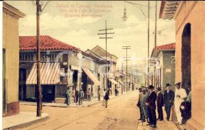 1910 ca CARACAS (VENEZUELA) Calle de Comercio - Cartolina ANIMATA FP NV