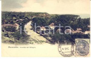 1906 MARACAIBO (VENEZUELA) Avenida del Milagro - Tarjeta postal FP VG