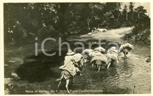 1929 PUERTO CABELLO (VENEZUELA) Recua de burros - Rio El Palito - Tarjeta postal