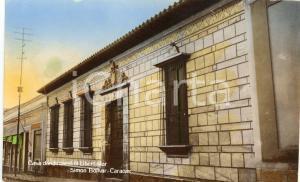 1939 CARACAS VENEZUELA Casa donde nació Simón Bolívar - Cartolina FP VG