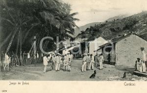 1905 ca CARACAS (VENEZUELA) Juego de bolas -  Cartolina ANIMATA vintage FP