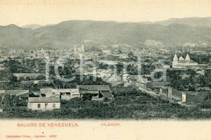 1910 ca VALENCIA (VENEZUELA) Veduta panoramica -  Cartolina postale vintage FP NV