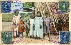 1919 MARACAIBO (VENEZUELA) INDIOS - Bambini GOAGIROS - Cartolina FP VG