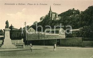 1910 ca CARACAS (VENEZUELA) Monumento a Bolivar - Plaza de la Estacion - Tarjeta