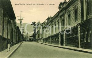 1910 ca CARACAS (VENEZUELA) Avenida del Palacio de Hacienda - Cartolina ANIMATA