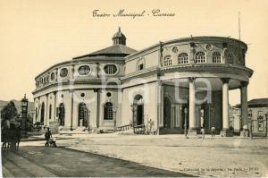 1910 ca CARACAS (VENEZUELA) Teatro Municipal - Cartolina ANIMATA FP NV