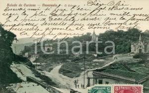 1910 ca CARACAS (VENEZUELA) El Calvario - Cartolina ANIMATA vintage FP VG