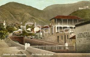 1926 LA GUAIRA (VENEZUELA) Veduta con il Rio Osorio - Cartolina vintage FP VG