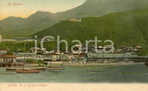 1910 ca LA GUAIRA (VENEZUELA) Veduta panoramica con barche - Cartolina FP NV