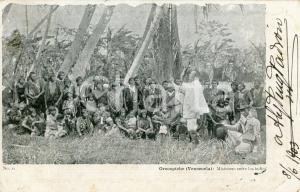 1903 OROCOPICHE (VENEZUELA) Misionero entre los indios - Cartolina ANIMATA FP VG