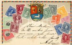 1905 VENEZUELA Cartolina postale filatelica - Vintage FP VG