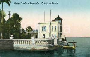 1910 ca PUERTO CABELLO (VENEZUELA) Entrada al puerto *Cartolina ANIMATA barca FP