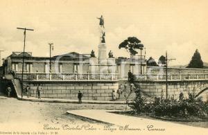 1910 ca CARACAS (VENEZUELA) Estatua Cristobal Colon - Plaza Macuro - ANIMATA