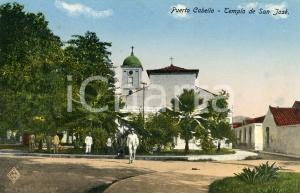 1910 ca PUERTO CABELLO (VENEZUELA) Templo de San José - Cartolina ANIMATA FP NV