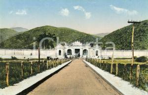 1910 ca PUERTO CABELLO (VENEZUELA) Cementerio - Cartolina ANIMATA calesse FP NV