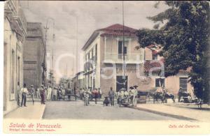 1910 ca PUERTO CABELLO (VENEZUELA) Calle del Comercio - Cartolina ANIMATISSIMA