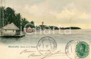 1905 ca MARACAIBO (VENEZUELA) Baños en El Milagrò - Tarjeta postal