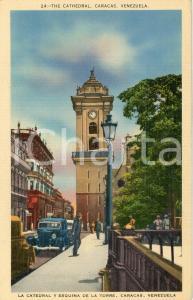 1925 ca CARACAS (VENEZUELA) La Catedral y esquina de la Torre - Tarjeta postal