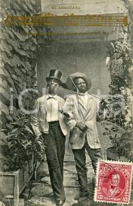 1904 COSTUMI VENEZUELA El Araguato - Canzone *Cartolina postale FP VG