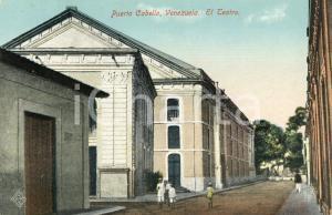 1910 ca PUERTO CABELLO (VENEZUELA) El Teatro - Cartolina ANIMATA FP NV