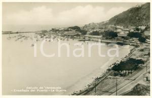 1929 LA GUAIRA (VENEZUELA) Ensenada del Puerto - Cartolina FP NV