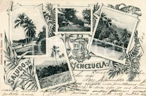1907 CARACAS (VENEZUELA) Vedutine panoramiche  - Tarjeta postal FP VG