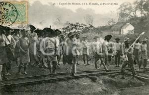 1907 CAYENNE (GUYANE) Appel des mineurs au Placer ST-ELIE - Carte postale RARE