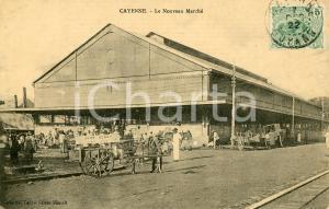1922 CAYENNE (GUYANE) Le Nouveau Marché - Chariot John Henry lait pur *ANIMEEE