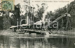 1907 CAYENNE (GUYANE) MARONI Drague aurifère DANICA à la Crique JANVIER *ANIMEE