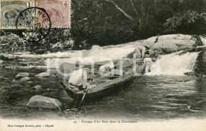 1907 CAYENNE GUYANE Passage d'un saut dans le Sinnamary - Carte postale