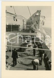1948 M.V. ALBERTVILLE Compagnie Maritime Belge S.A. TRAVAUX DE BORD Cartolina FG