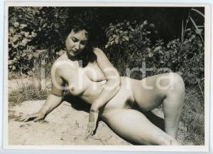 1950ca VINTAGE EROTIC Nude woman in the countryside - Photo FOTOSTUDIO BERWE