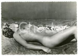 1950ca VINTAGE EROTIC Full nude woman - Postcard risque DELPIROU PARIS