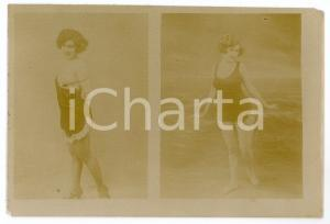 1900ca VINTAGE EROTIC - BATHING BEAUTIES Women at the sea - Photo risque