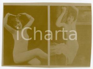 1900ca VINTAGE EROTIC Young women posing nude - Photo risque