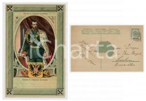 1910 NICOLAS II Emperor of RUSSIA - Chromo vintage postcard