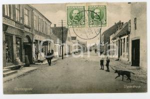 1910 VAMDRUP (DENMARK) Vestergade - Dog and children on the street - Postcard FP