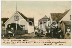 1904 HORNBAEK (DENMARK) Fishermen at STOKKEN Postcard FP VG