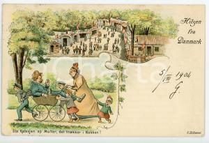 1904 DENMARK Sla kalesjen op mutter, det traekker i nakken - Postcard FP VG