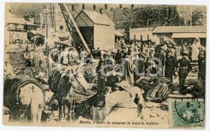 1909 CAMPAÑA DE MELILLA Antes de embarcar la mejal-la imperial - Tarjeta postal