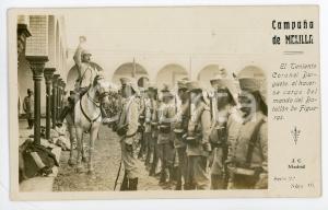 1910 ca CAMPAÑA DE MELILLA Teniente Coronel Burguete  - Tarjeta postal