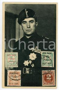 1937 GUERRA CIVIL ESPAÑOLA Malaga Liberada - Tarjeta con sellos sobrecargados