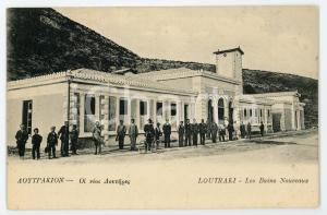 1910 ca  LOUTRAKI (GRÈCE) Les bains nouveaux - Carte postale FP NV